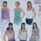 McCall 2765 misses summer tops sizes XSM 4 6 Small 8 10 UNCUT blouses pattern