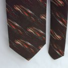 Vintage Cappaccino man's necktie brown with accdents neck tie 3 inch