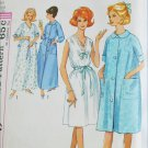 Simplicity 5001 vintage 1960s pattern nightgown robe size 18 to 20 Large