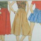 Butterick 4405 misses culottes skirt shorts size 14 waist 28
