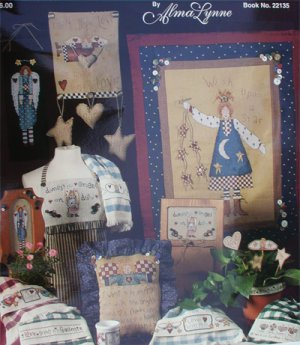 Cross stitch pattern booklet Folksy Angel Inspirations by Alma Lynne
