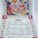 Kay Dee calendar towel 2000 teddy bear 16x27 inches new in package