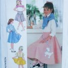 Simplicity 7269 girls flared skirt poodle design sizes 7 8 10 UNCUT pattern