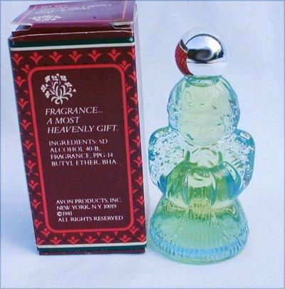 Avon Candid Heavenly Angel Ultra cologne perfume bottle 0 5 fl oz