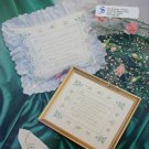 Cross stitch leaflet A Sister tribute design pillow or picture pattern
