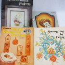 4 Tole and decorative wood painting booklets patterns & directions