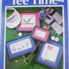 Cross stitch leaflet Tee Time 4 golf patterns