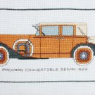Finished cross stitch Packard convertible sedan 1923 picture