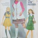 Simplicity 8417 misses pleated skirt bolero vest size 12 B34 vintage 1969