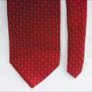 Man's necktie RBM Collection 100% silk tie red zig zag pattern 3 3/4""