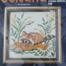 Sultana cross stitch kit Raccoon 5x5 inch sealed
