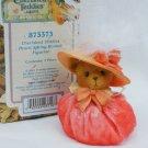 Cherished Teddies Peach Spring Bonnet figurine MIB Priscilla Hillman