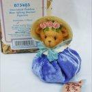 Cherished Teddies Blue Spring Bonnet figurine MIB Priscilla Hillman