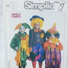 Simplicity 7120 child costume pattern clowns jesters hobo size 2 to 4