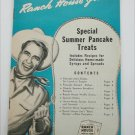 Ranch House Jim's Pancake flour recipe book circa 1940s