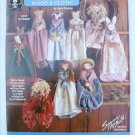 Wood & Cloth dolls animals maidens for wall hangings wreaths