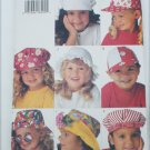 Butterick 3281 child's hat pattern sizes S M L Uncut pattern
