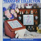 Alphabet Iron-on transfer pattern booklet includes some flowers