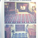 Simplicity crochet pattern reversible plaid rugs pattern 5714