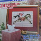 Plastic Canvas Magazine 15 carousel horse basket cover pet mats