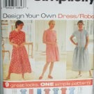 Simplicity 7102 misses dress and romper sizes XS S M UNCUT pattern