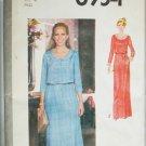 Simplicity 8954 misses dress size 16 vintage 1979 long or short