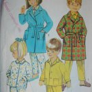 Simplicity 7407 child PJs robe pajamas size 3 1967 vintage pattern