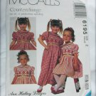 McCall 6195 girls dress and jumpsuit UNCUT pattern sz 2
