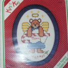 Cross Stitch kit for kids angel bear complete with frame New Berlin Co