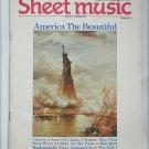 Sheet Music Magazine June July 1986 America the Beautiful Easy Organ