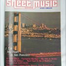 Sheet Music Magazine I Left my Heart in San Francisco+ August September 1983