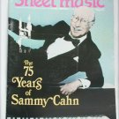June July 1988 sheet music magazine 75 Years of Sammy Cahn