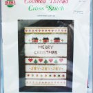 Cross stitch kit Christmas sampler mini 5 x 7 Needlemagic