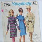 Simplicity 7346 misses dress vintage 1967 size 18 bust 38