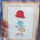 Moppets embroidery kit Tennis is my Game boy Creative Stitchery MIP vintage