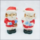 Santa salt & pepper shakers Japan 3 inches vintage Japan set