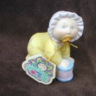 Cabbage Patch baby with pacifier & drum  and tag OAA 1984 porcelain