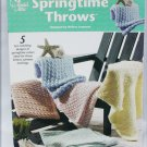 Annie's Attic Springtime Throws 5 knitting patterns