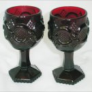 Avon Cape Cod wine cordials 4 1/2 inches ruby red glass