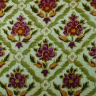 "Upholstery fabric rose green print 52"" wide great shape"