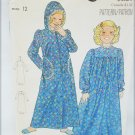 Butterick 5708 girl's nightgown and robe size 12 pattern