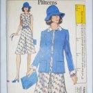 Vogue 8791 misses dress jacket size 12 bust 34 UNCUT pattern