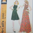 McCall 3460 misses dress size 12 bust 34 UNCUT pattern retro pattern