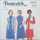 Butterick 3507 misses cardigan & dress size 12 UNCUT pattern