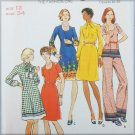 Butterick 3481 misses dress top pants vintage pattern UNCUT size 12