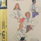 McCall 3303 misses blouse long sleeves size 12 B34 UNCUT pattern