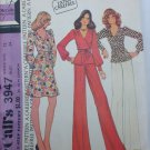 McCall 3947 misses front wrap dress top pants size 12 UNCUT pattern