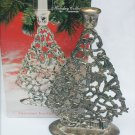 "Godinger candle holder silver plate Christmas tree large 10"" used with box"