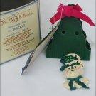 Enesco Snowsnickle snowman with pipe pin MIB Linda Baldwin 2000