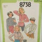 Simpli 8738 misses blouse size 12 UNCUT pattern vintage 1978